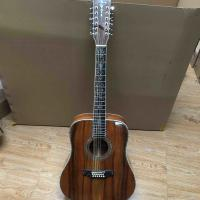 China 12 strings D45s Deluxe Solid KOA Wood Abalone Inlay Acoustic Guitar on sale