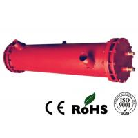 China Red Tube Heat Exchanger Oil Cooler Water Cooler With Carbon Steel Shell Material on sale