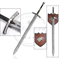 45.3 Stainless Steel Ice Sword Of Eddard Stark Cast Metal Hilt With Antique Nickel Plate Manufactures