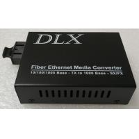 Buy cheap HD IP Camera to fiber converter Gigabit Ethernet Fiber Optic transmitter and receiver Single port Fiber media Converter from wholesalers