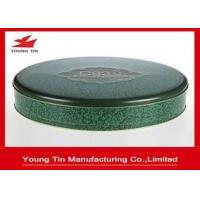 Quality Large 0.28 MM Food Grade Tinplate Round Cookie Packaging Container Tins With Lid for sale