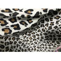 Custom Printed Double Knit Fabric Panther Print With Wet Screen Printing Manufactures