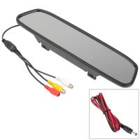 China HD 4.3 Inch Car Tv Screen Rear View Mirror Car Monitor With TFT LCD Display on sale