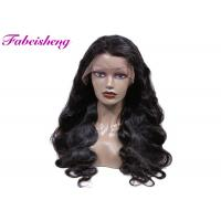 OEM Virgin Peruvian Hair Body Wave Lace Wig For Black Women No Tangle Manufactures