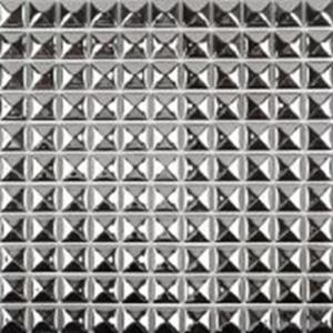 Decorative Silver Metallic Floor Tiles , Solid Mirror Metallic Mosaic Bathroom Tiles Manufactures