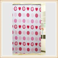 Water Resistant Small Polyester Fabric Shower Curtain With Floral Patten Manufactures