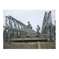 Customized Timber Deck Stability Steel Bailey Bridge / Portable Steel Bridge CB100 , CB200 Manufactures