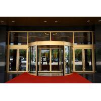 Luxurious building entrance Automatic curved sliding door Of Aluminium / steel frame Manufactures
