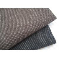 Stylish Brown / Black Knit Denim Fabric For Sportswear / Suit Width 180cm Manufactures