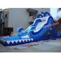 Residential, Commercial grade 0.55mm PVC tarpaulin Outdoor Inflatable Water Slides Manufactures