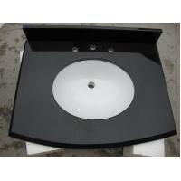 Absolute Black Solid Granite Worktops Different Edge / Thickness Optional Manufactures