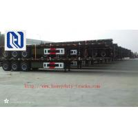 China 3 Axles 40 Feet Mechanical Equipment Hydraulic Flatbed Semi Trailer Polyurethane Paint on sale