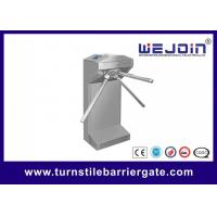 Waist Height Electronic Turnstile Barrier Gate Bi Directional Passing With Brush DC Motor Manufactures