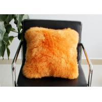 Long Wool Decorative Pillows For Couch , Chair Brown Fur Throw Pillows Cover Manufactures