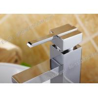 Quality China Sanitary ware basin square faucet,square single level basin mixer faucet for sale