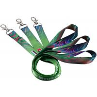 Single Custom Cotton Lanyards Floating Carabiner Mixed Blue Colors 125mm Length Manufactures