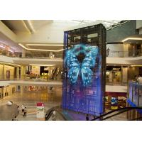 Quality 5.2mm High Transparency See Through LED Screens , Transparent LED Signage Full for sale