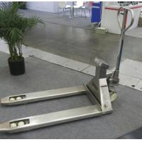 China Mobile Hand Pallet Jack With Weight Scale 5500 Lb Stainless Steel Material on sale