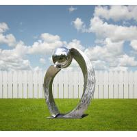 Brushed Polished Stainless Steel Outdoor Sculpture Contemporary Art Design As Yard Decor Manufactures