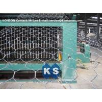 Buy cheap Automatic Hexagonal Wire Netting Production Line Heavy Duty Gabion Mesh Machine from wholesalers