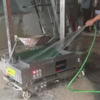 Waterproof Stainless Steel Wall Plastering Machine , Cement Lime Concrete Mortar Rendering Equipment Manufactures