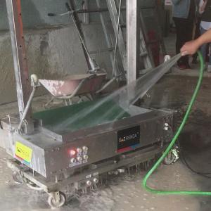 Waterproof Stainless Steel Wall Plastering Machine , Cement Lime Concrete Mortar Rendering Equipment