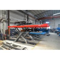 China Runway 4.3m hydraulic cylinder car lift / Car Scissor Lift Second Jack on sale