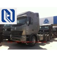 420HP HOWO A7 Prime Mover Truck Trailer , Diesel 6x4 Transport Trucks , Wild Black Manufactures