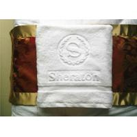 5 Star Hotel Bath Towel And 16 Spiral White Plain Weave With Jaquard Cotton Manufactures