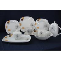 47pcs porcelain dinnerware sets with cut decal customized logo or designs are accepted Manufactures