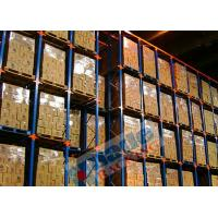 China Blue Orange Material Handling Racks Drive Through Racking For Cold Storage on sale