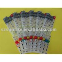 Changing colors silicone conductive keypad
