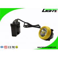 Industrial Lighting LED Miners Cap Lamp 10000lux 7.8Ah Battery With Silicon Button Cap Manufactures