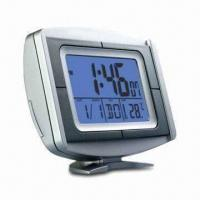 LCD Alarm Clock with Snooze, Countdown Timer and Calendar Functions, Measures 122 x 94 x 43mm Manufactures
