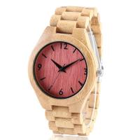 China Solid wood wooden wrist wall clock watch on sale