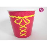 Single Wall Disposable Take Away Paper Plant  Pot Red Color 34 Ounce Manufactures