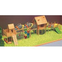 China Guangzhou Factory Good Quality Amusement Park Equipment Big Set Kids Wooden Outdoor Playground on sale
