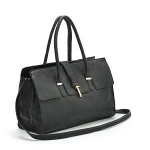 China Classical office lady black snake skin pattern charm handbag brand messenger shoulder bags on sale