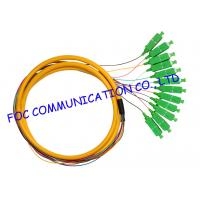 China Distribution Fan Out Optical Fiber Pigtail For FTTX , APC sc pigtail single mode 12 Cores on sale