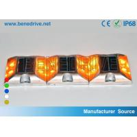 Quality Square Solar Barricade Lights Aluminum Alloy Housing Double Sides LED Flashing With Reflectors for sale