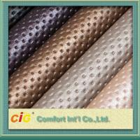 Embossed / Printed Polyurethane Faux Leather , Waterproof Synthetic PU Leather Manufactures