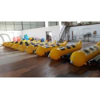 China 3 Seats Inflatable Water Banana Boat With 0.9mm PVC Tarpaulin Material on sale