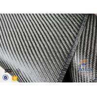 3K 200g 0.3mm Twill Weave Carbon Fiber Fabric For Reinforcement , Thermal Insulator Materials Manufactures