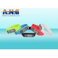 Multifunction Hf Rfid Tags,Custom Printed Rfid Wristbands With Led Pedometer Manufactures