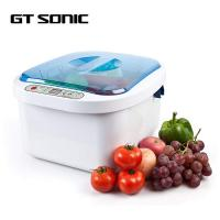 ABS SUS304 Ultrasonic Fruit And Vegetable Washer Sterilizer Ozone Cleaner 12.8L Manufactures