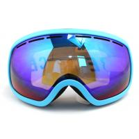 Quick Interchangeable Double Lens Mirrored Anti Fog Ski Goggles Helmet Compatible Manufactures