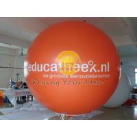 Orange Inflatable advertising helium balloon with UV protected printing, ad balloons Manufactures