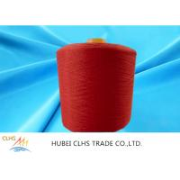 Quality High Tenacity 100% Dyed Polyester Yarn Low Shrinkage Red For Sewing Thread for sale