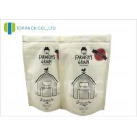 Recyclable Printed Stand Up Bags , 500g Zipper Stand Up Food Matte Window Manufactures