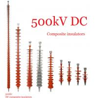 Composite Polymeric Silicone Rubber Insulator 500kv Creepage Distance 17600mm Manufactures